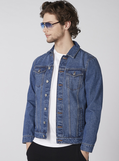 9e25d68d1692 Long Sleeves Denim Jacket with Button Closure