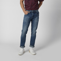 Sustainability Slim Fit Full Length Low Waist Jeans with Pocket Detail