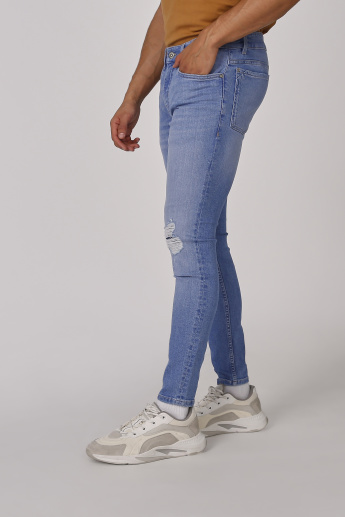 Sustainability Full Length Ribbed Jeans with Pocket Detail