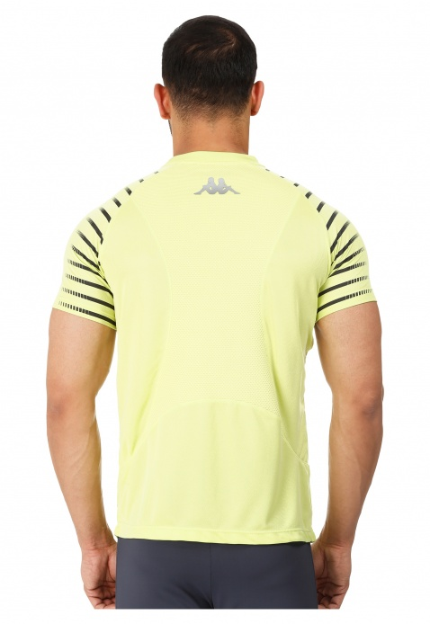 Kappa Printed T-shirt with Mesh Insert