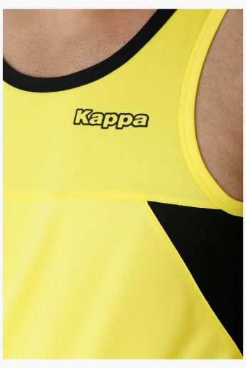 Kappa Sleeveless T-shirt with Round Neck and Mesh Insert