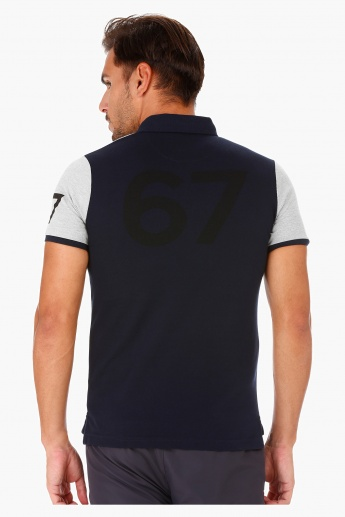 Kappa Cut and Sew T-Shirt with Polo Neck and Short Sleeves