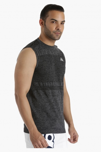 Kappa Vest with Seamless Pattern in Regular Fit