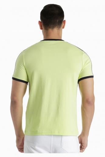 Kappa T-Shirt with Contrast Binding in Regular Fit