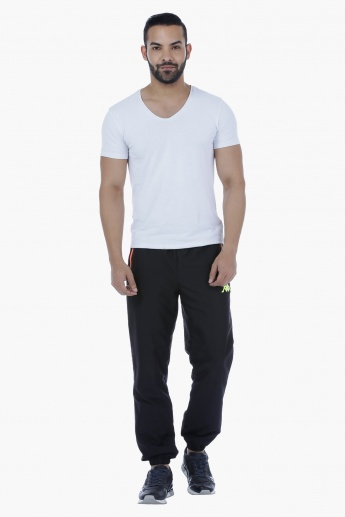 Kappa Woven Jog Pants with Zip Detail