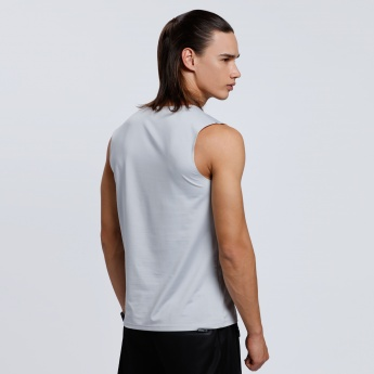 Regenerated Kappa Sleeveless T-Shirt with Crew Neck
