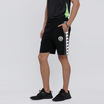 Kappa Printed Shorts with Elasticised Waistband