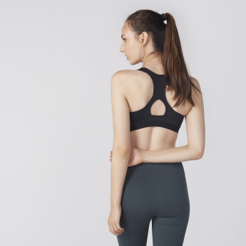 Kappa Zip Detail Sports Bra with Racerback