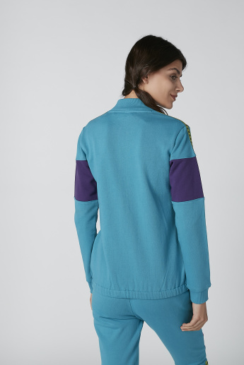 Kappa Logo Tape Detail Jacket with Long Sleeves