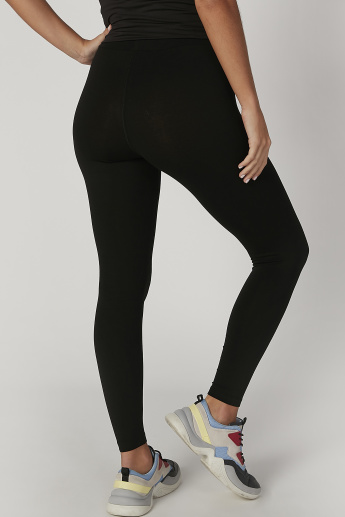 Kappa Plain Mid Waist Leggings with Elasticised Waistband
