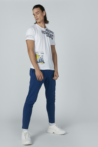 Bossini Printed T-shirt with Short Sleeves and Round Neck
