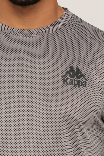 Kappa Mesh Detail T-Shirt with Round Neck and Short Sleeves