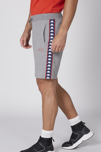 Kappa Tape and Pocket Detail Shorts with Elasticised Waistband