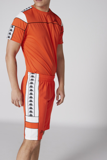 Kappa Shorts with Elasticised Waistband and Tape Detail