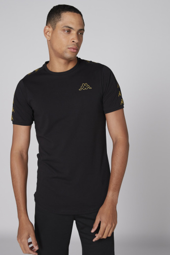 Kappa Printed T-Shirt with Crew Neck and Short Sleeves