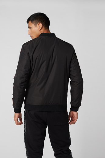 Kappa Tape Detail Jacket with Long Sleeves and Zip Closure