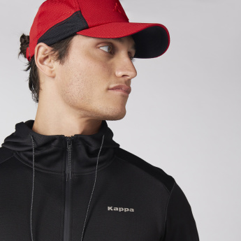 Kappa Textured Cap with Tuck-In Closure