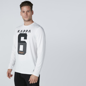 Kappa Printed T-Shirt with Long Sleeves