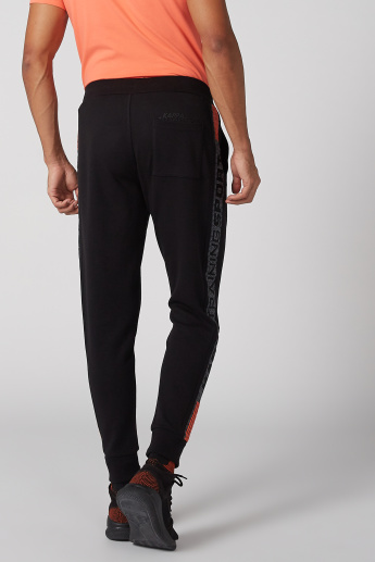 Kappa Side Tape Printed Jog Pants with Pocket Detail and Drawstring
