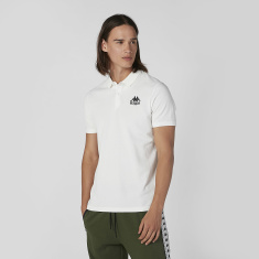 Kappa Plain T-shirt with Polo Neck and Short Sleeves