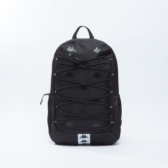 Kappa Printed Backpack with Adjustable Straps and Zip Closure