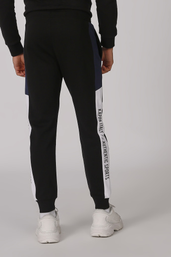 Kappa Printed Jog Pants with Elasticised Waistband and Pocket Detail