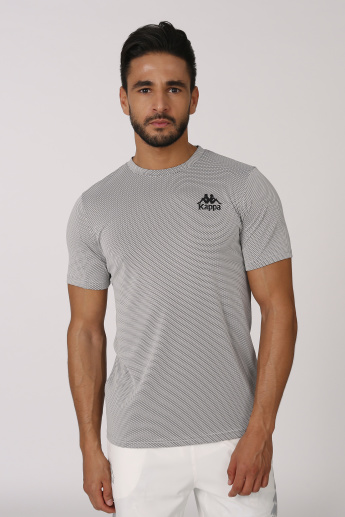 Kappa Perforated T-shirt with Short Sleeves