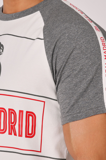 Sustainability Real Madrid Printed T-shirt with Raglan Sleeves
