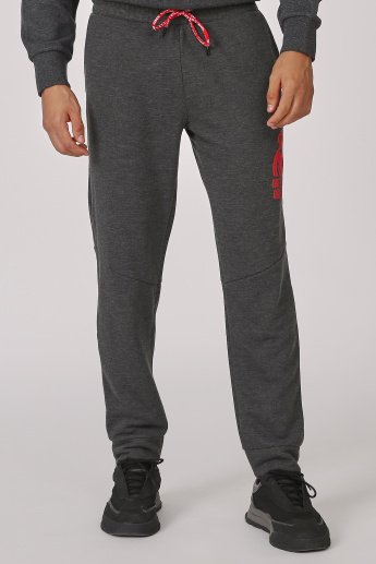 Printed Jog Pants with Elasticised Waistband and Pockets