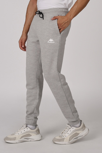 Kappa Plain Jog Pants with Elasticised Waistband and Pocket Detail