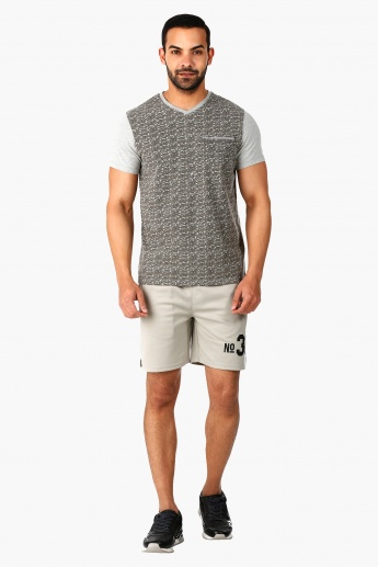 Shorts with Cut N Sew Detail In Regular Fit