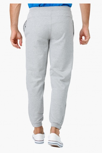 Melange Jog Pants with Zipper Pocket