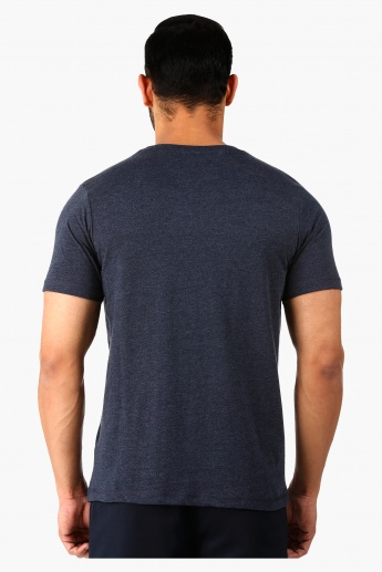 Printed Crew Neck T-Shirt with Short Sleeves in Regular Fit