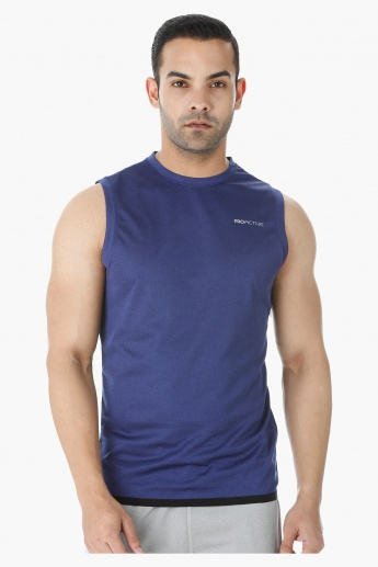 Sleeveless T-shirt with Crew Neck