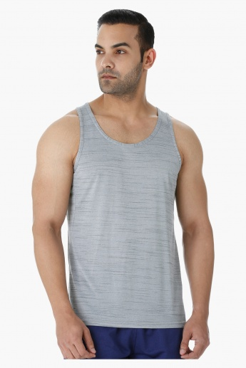 Sleeveless Vest with Crew Neck