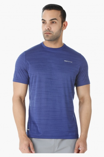 Solid Colour T-shirt with Crew Neck