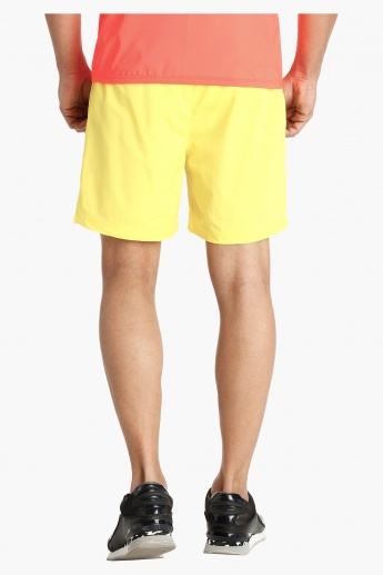 Woven Shorts with Mesh Insert