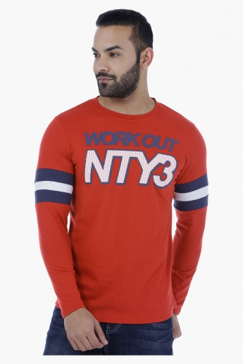 Graphic Print Long Sleeves T-Shirt