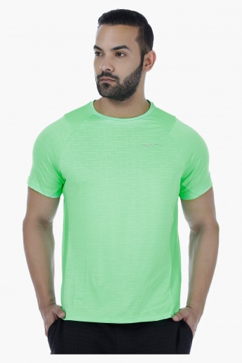 Short Sleeves T-Shirt with Mesh Detail