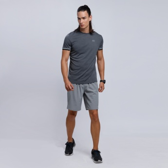 Melange Shorts with Elasticised Waistband