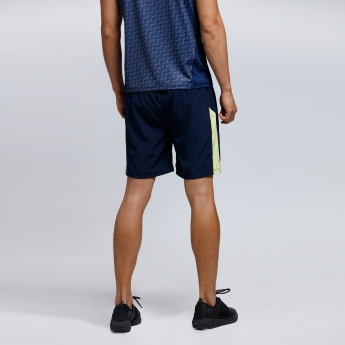 Shorts with Contrast Side Panels