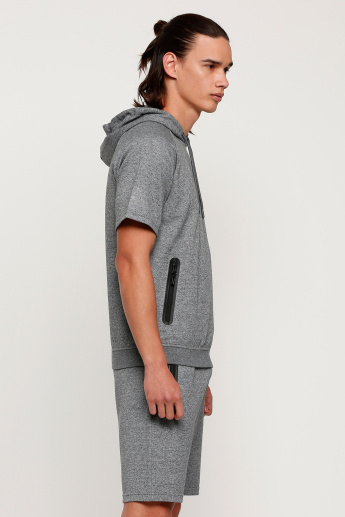 T-Shirt with Short Sleeves and Hood