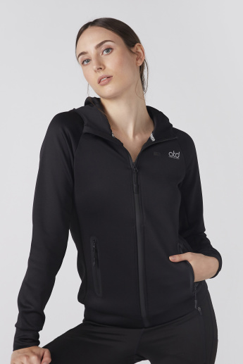 Pocket Detail Long Sleeves Jacket with Zip Closure and Hood