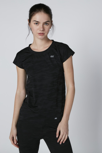 Round Neck T-Shirt with Cap Sleeves