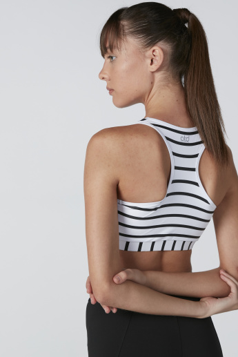 Striped Sports Bra with Racerback