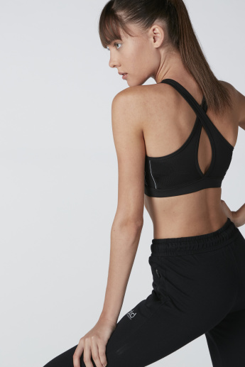 Sports Bra with Crossed Straps