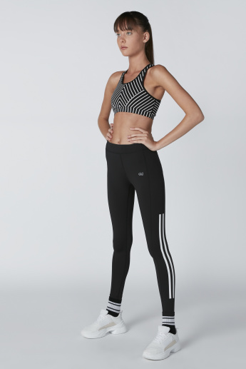 Side Tape Detail Leggings with Elasticised Waistband