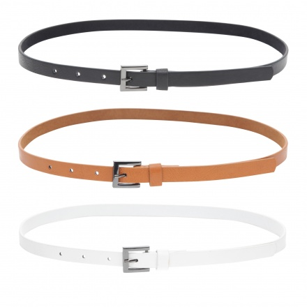 Square Buckle Belts - Set of 3