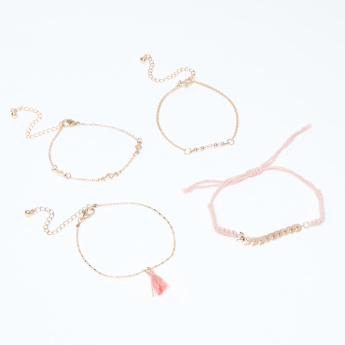 Assorted Bracelet with Lobster Clasp - Set of 4