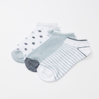 Assorted Ankle Length Socks - Set of 3